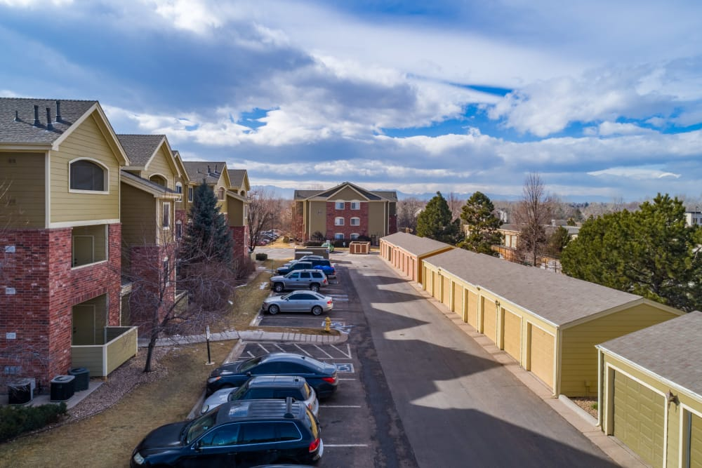 Parking and storage at Willow Run Village Apartments