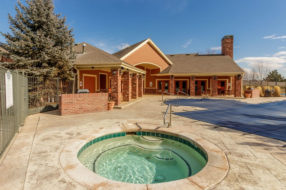 Hot tub at Willow Run Village Apartments