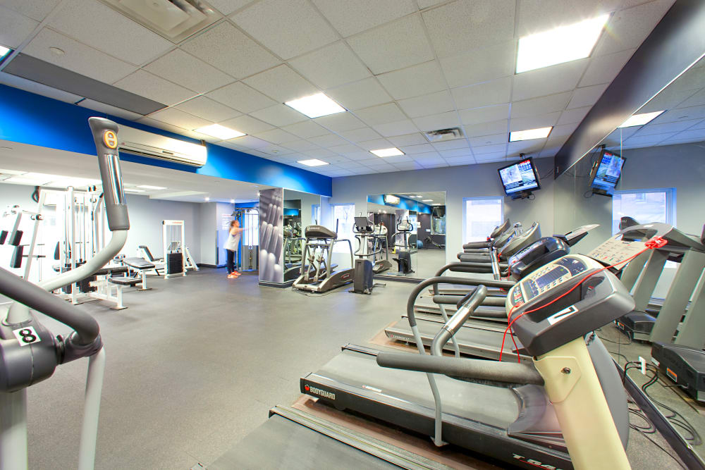 State-of-the-art fitness center at apartments in Toronto, Ontario