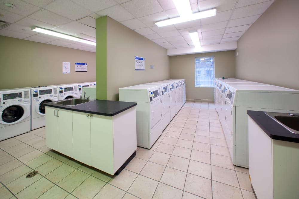 Residences on Bloor showcase a laundry facility in Toronto