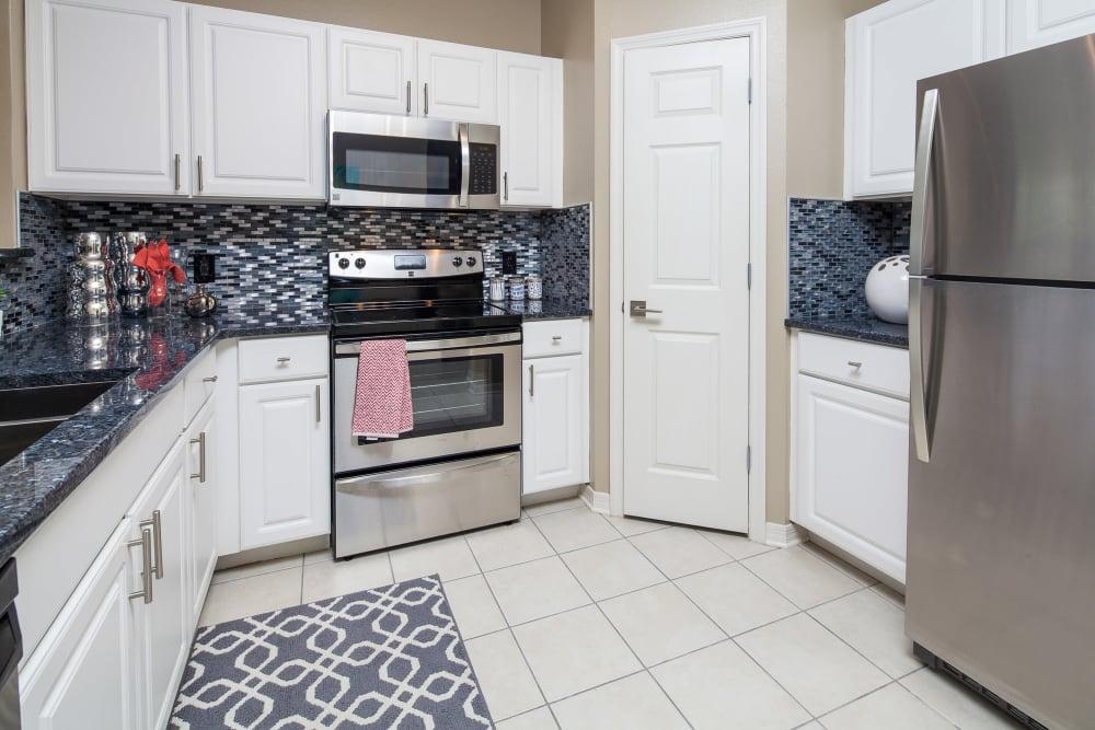 Custom kitchen cabinetry at Vista at Lost Lake