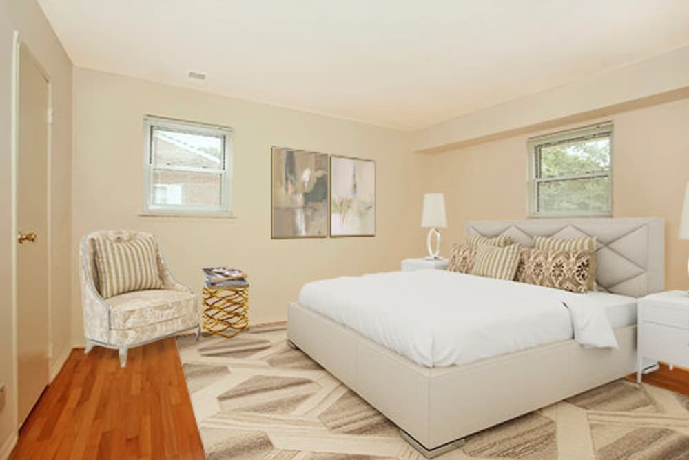 Beautiful Bedroom at Post & Coach Apartment Homes in Freehold, New Jersey