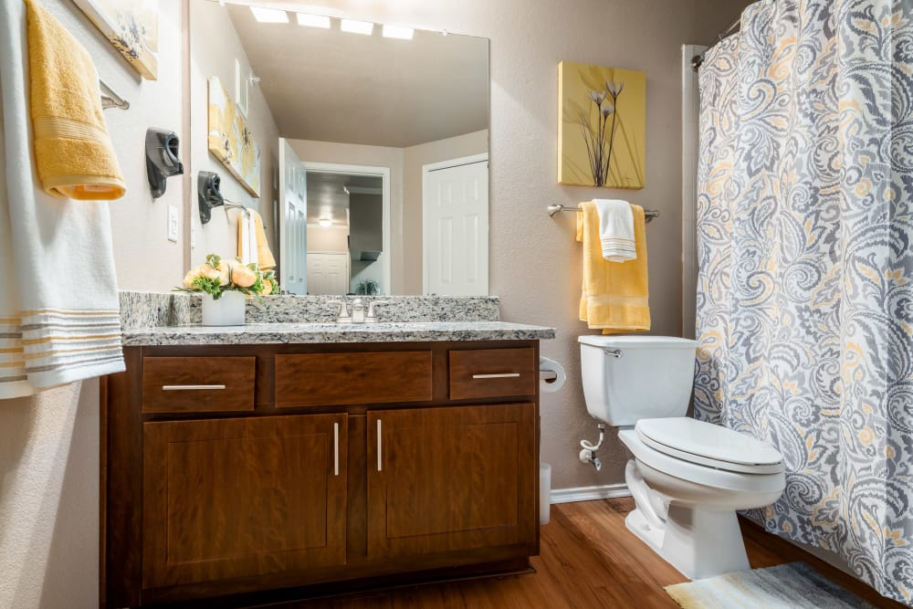 Luxury bathroom at Ballantyne Apartments in Lewisville, Texas