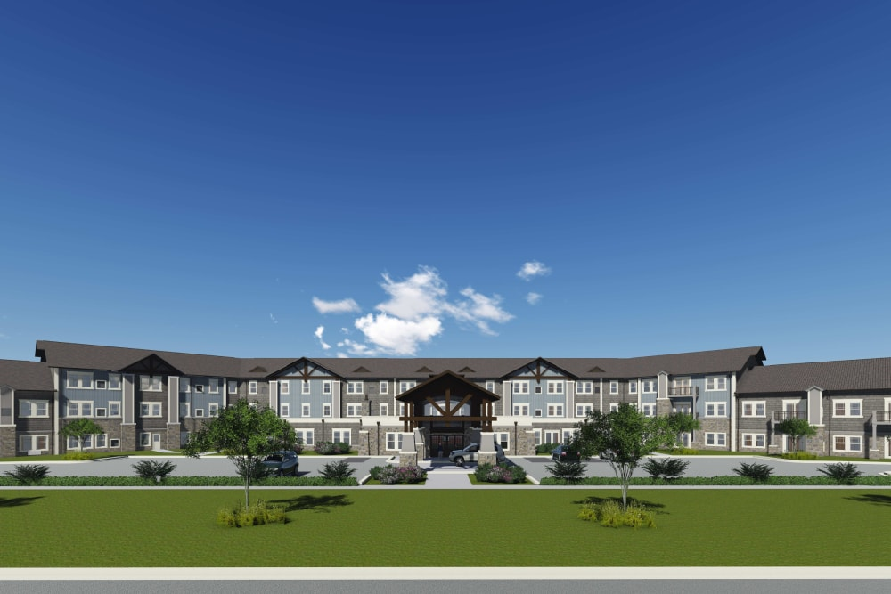 Front exterior rendering of The Phoenix at Union Hill in Canton, GA