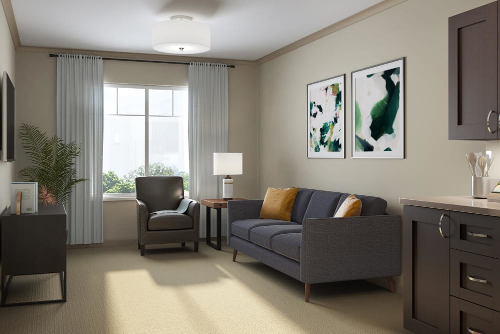 Sage Mountain assisted living private apartment in Thousand Oaks, California
