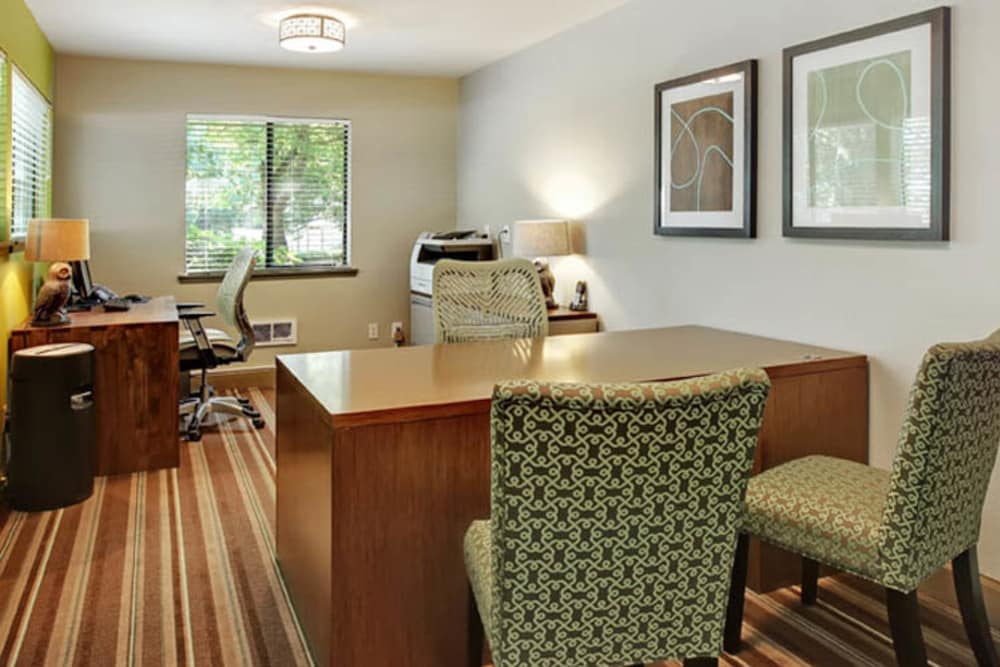 Office area at Willow Grove Apartment Homes in Beaverton, Oregon