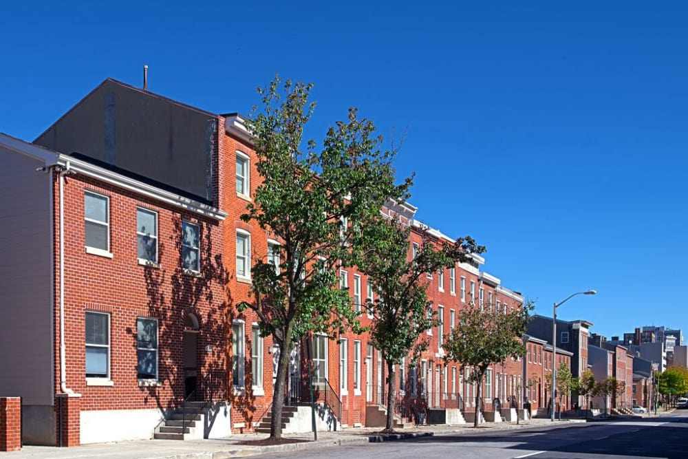 Side view of apartments at Vintage Gardens in Baltimore