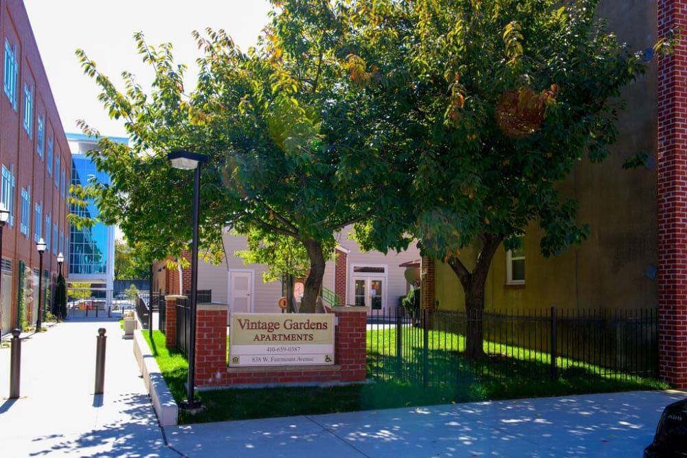 Exterior view of the Vintage Gardens community
