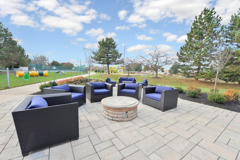 Outdoor Lounge at Abrams Run Apartment Homes in King of Prussia, Pennsylvania