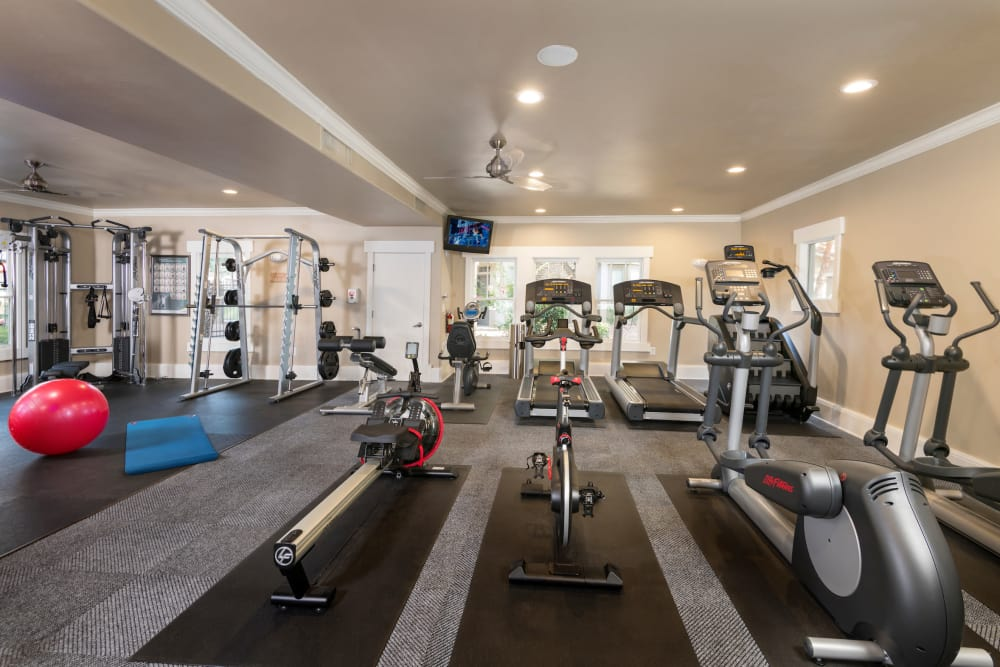 Modern fitness center at apartments in Mesa, Arizona