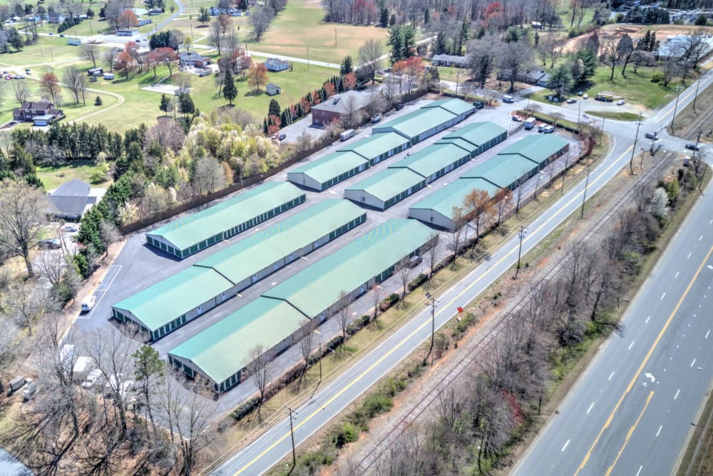 Aerial view of Prime Storage in Winston-Salem, North Carolina