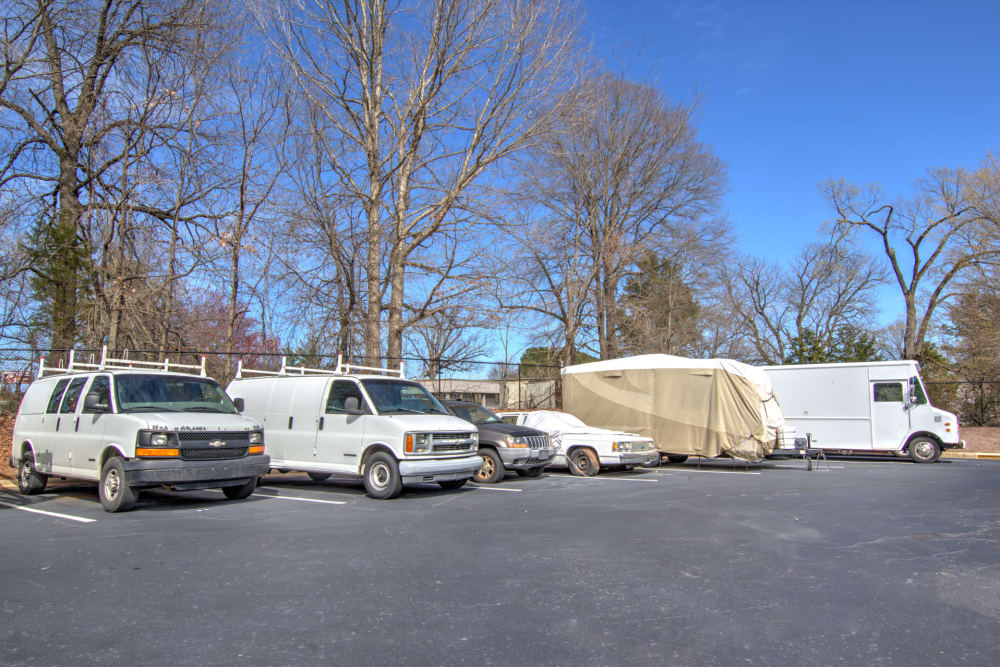 Outdoor parking at Prime Storage in Winston-Salem, North Carolina