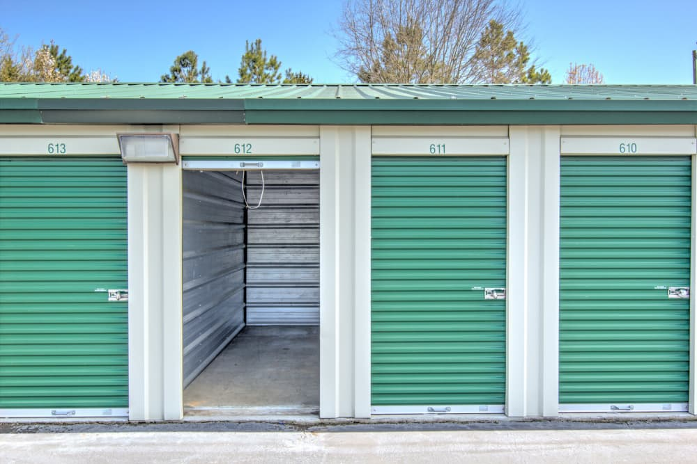 Interior view of small unit at Prime Storage in Winston-Salem, North Carolina