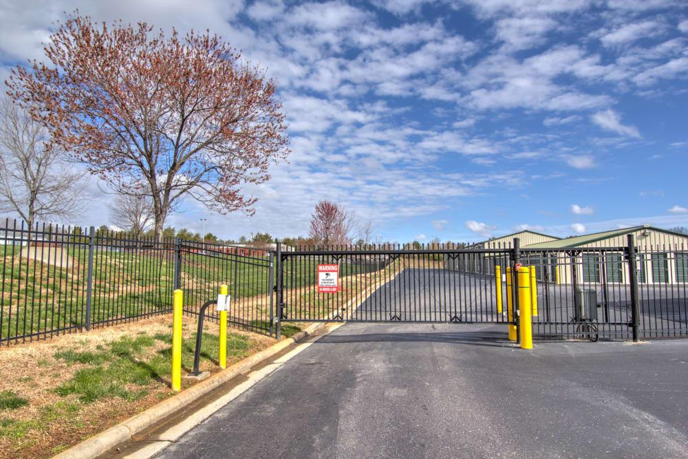 Security fence at Prime Storage in Winston-Salem, North Carolina