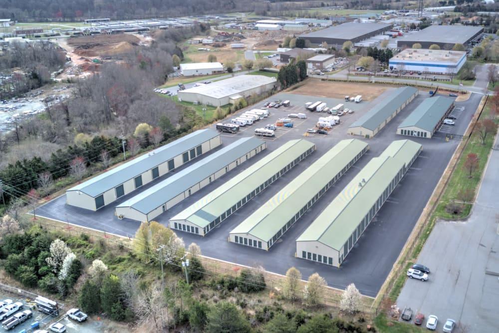 Aerial view of Prime Storage in Winston-Salem, North Carolina
