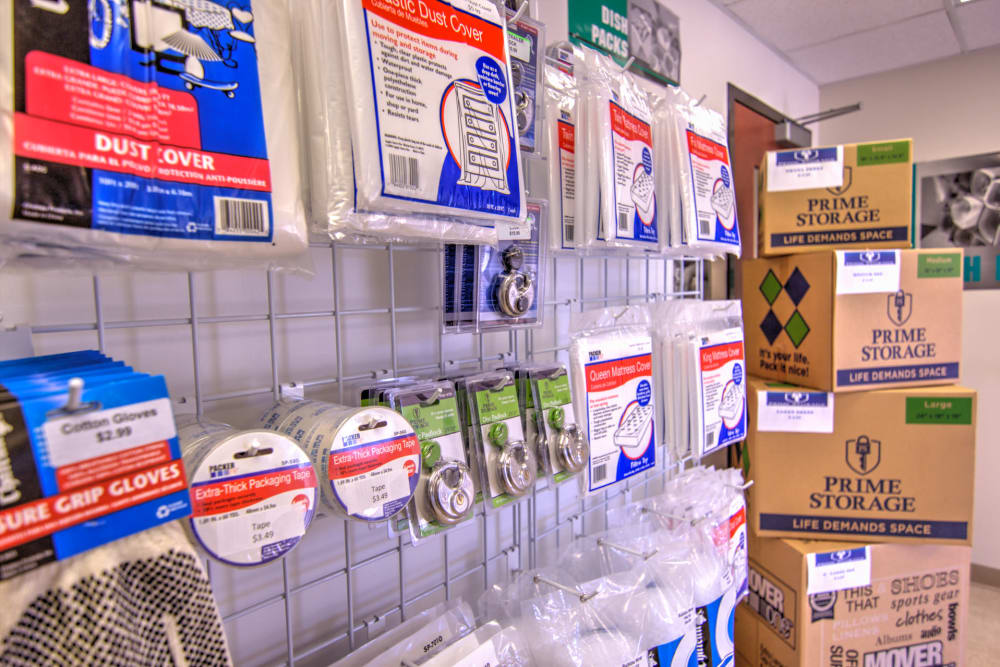Get your packing supplies at Prime Storage in Winston-Salem, North Carolina