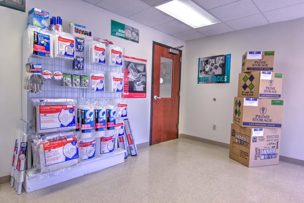 Moving supplies at Prime Storage in Winston-Salem, North Carolina
