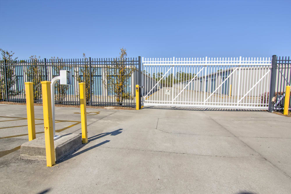 Security fence at Prime Storage in Bolivia, North Carolina