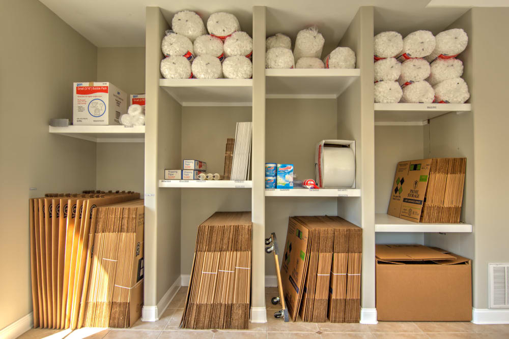 Choose your packing and moving supplies at Prime Storage in Bolivia, North Carolina
