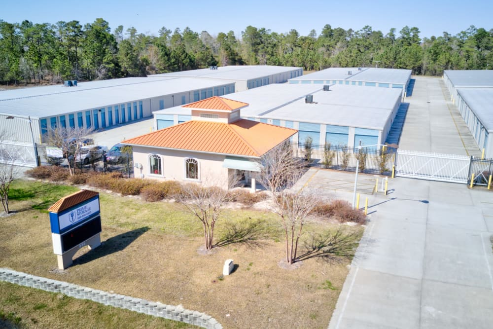 Aerial view of Prime Storage in Bolivia, North Carolina