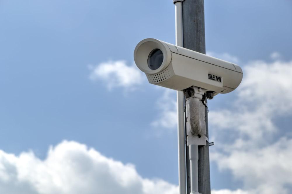 Surveillance camera at Prime Storage in Little River, South Carolina