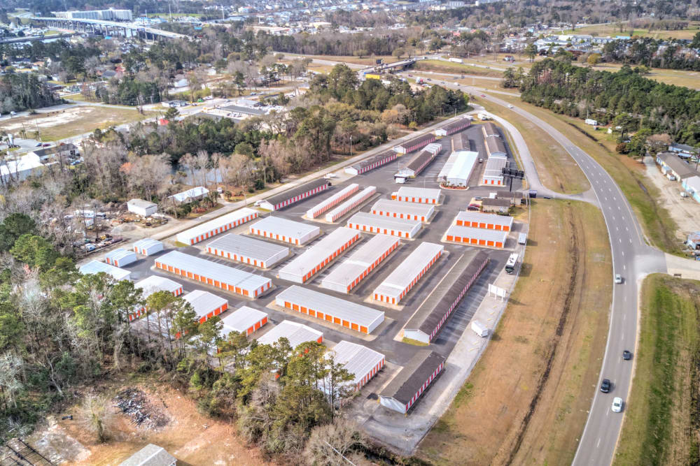 Aerial view at Prime Storage in Little River, South Carolina