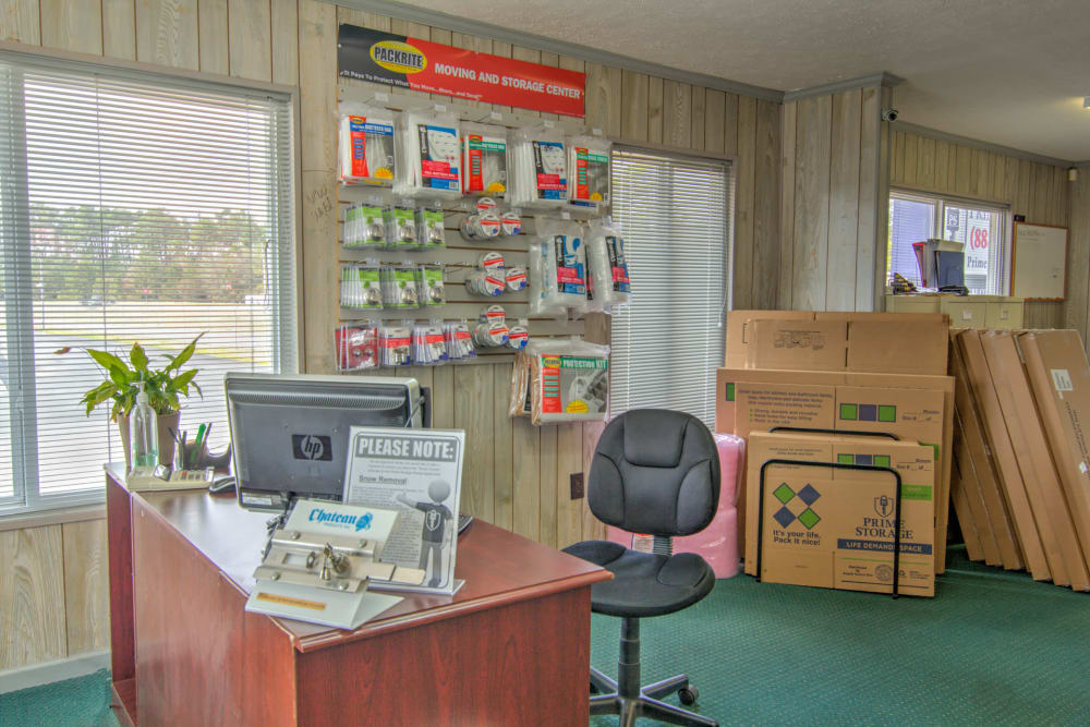 Leasing office at Prime Storage in Little River, South Carolina