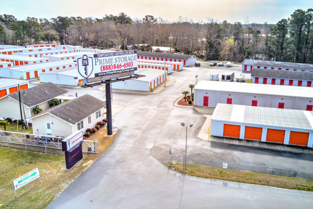Prime Storage aerial view in Little River, South Carolina
