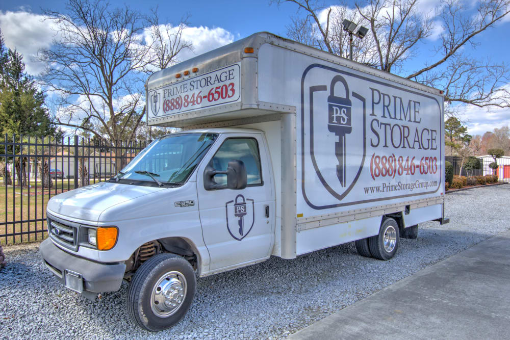 Rent your moving truck with Prime Storage in Longs, South Carolina