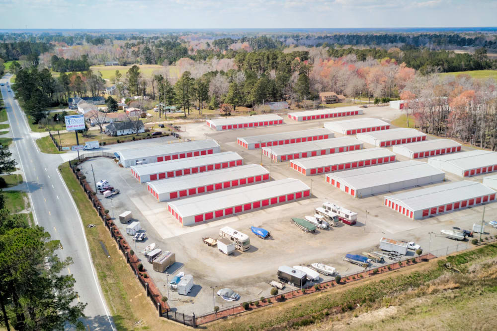 Aerial view at Prime Storage in Longs, South Carolina