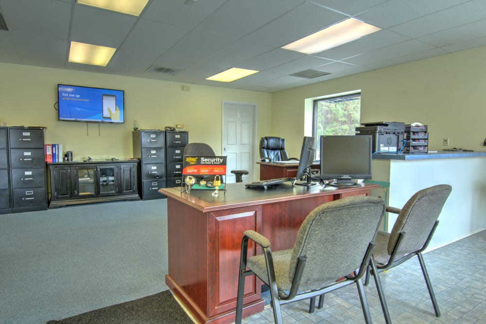Leasing office at Prime Storage in Longs, South Carolina