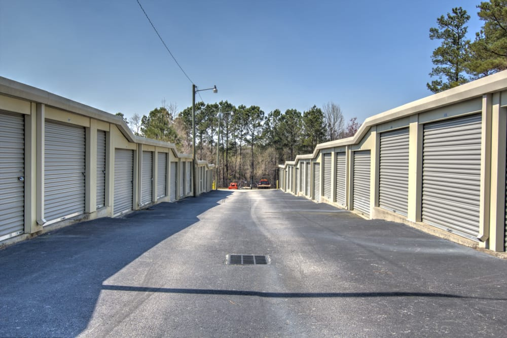 Wide driveways at Prime Storage in Columbia, South Carolina