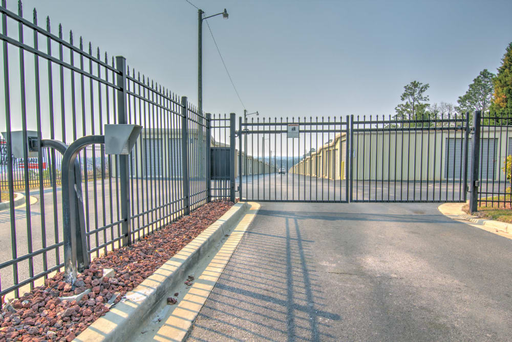 Security fence at Prime Storage in Columbia, South Carolina