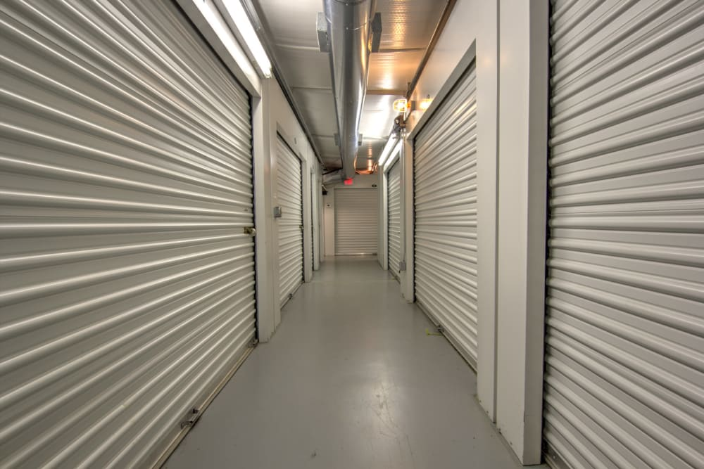 Indoor storage units at Prime Storage in Columbia, South Carolina