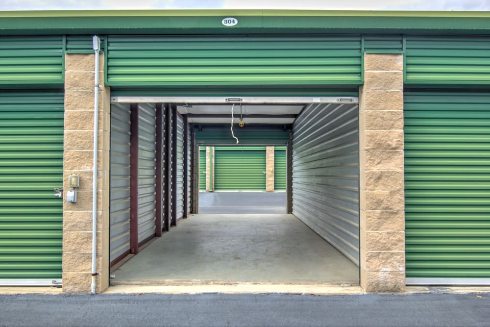 Outdoor storage unit at Prime Storage in Columbia, South Carolina