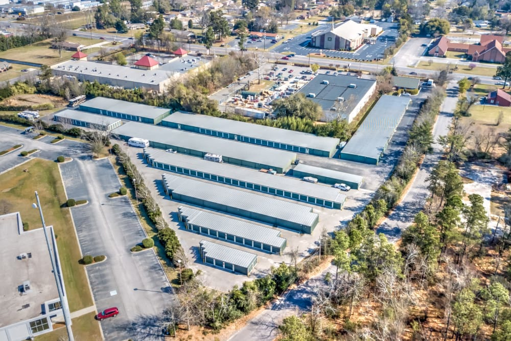 Aerial View At Prime Storage In Aiken, South Carolina