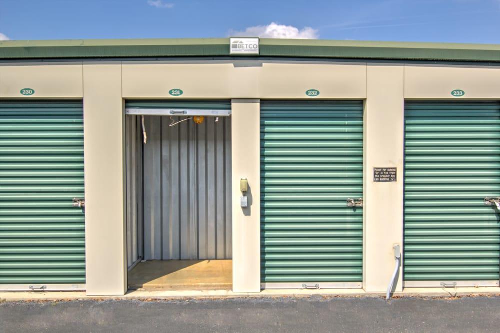 An external storage unit at Prime Storage in Aiken, South Carolina