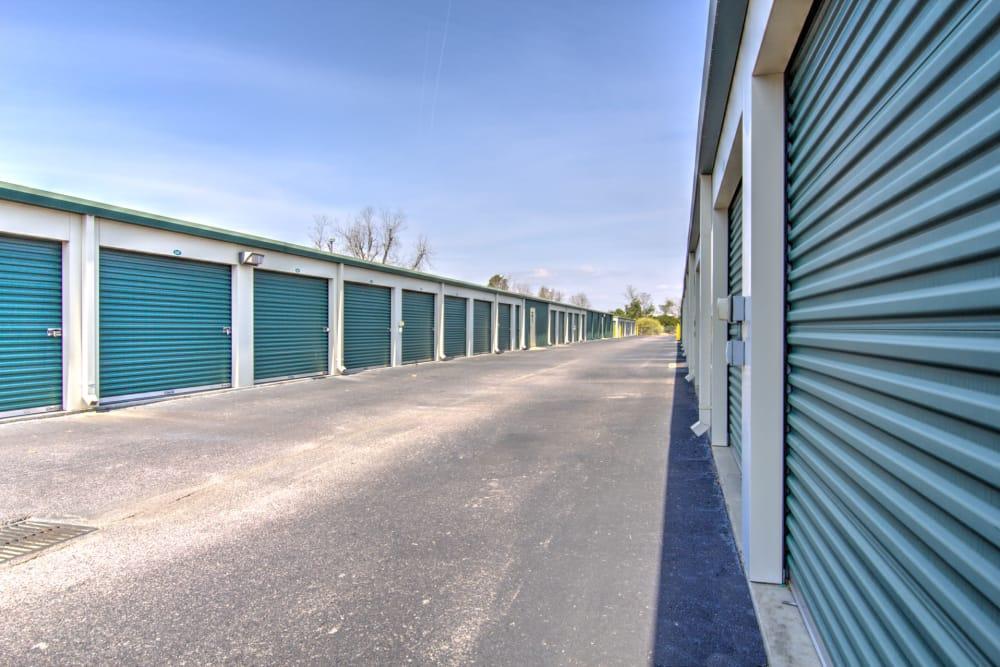 Wide hallways at Prime Storage in Aiken, South Carolina