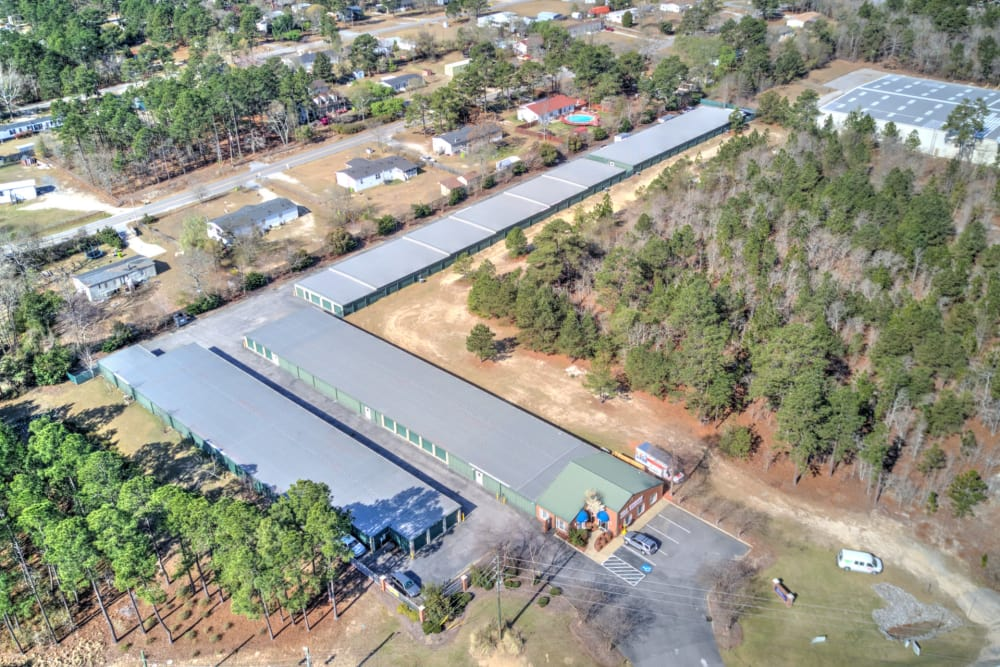 Aerial view of Prime Storage in Columbia, South Carolina