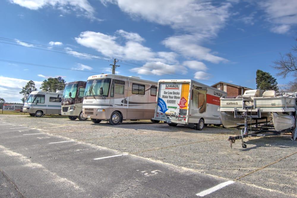 RV, boat and auto storage at Prime Storage in Columbia, South Carolina