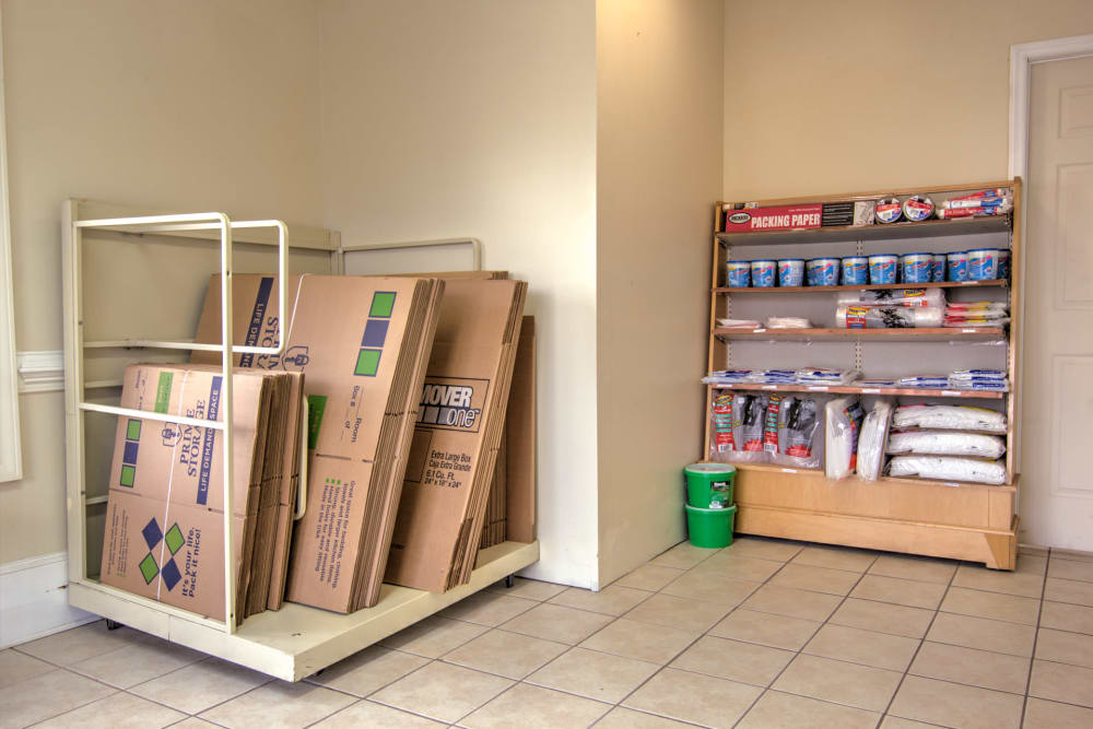 Moving and packing supplies at Prime Storage in Columbia, South Carolina