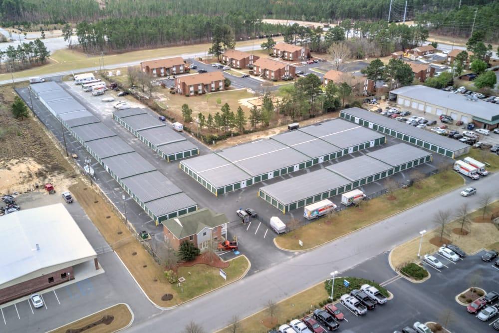 Aerial view of Prime Storage in Columbia, South Carolina