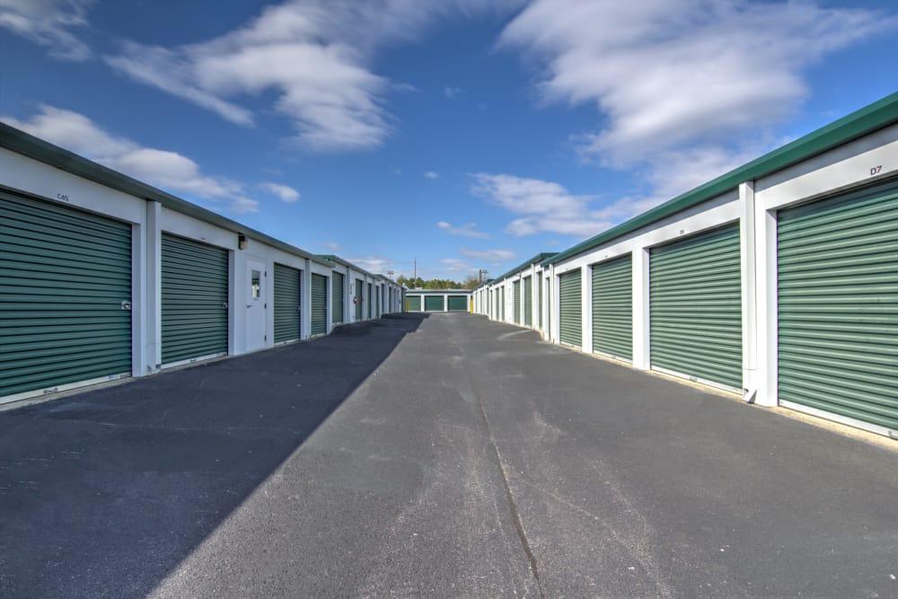 Wide driveways at Prime Storage in Columbia, South Carolina