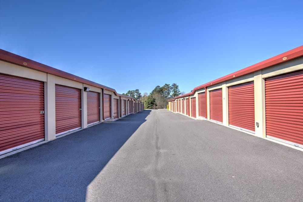 Drive-up units available at Prime Storage in Aiken, South Carolina