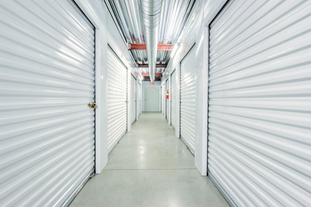 Indoor storage units at Prime Storage in Aiken, South Carolina