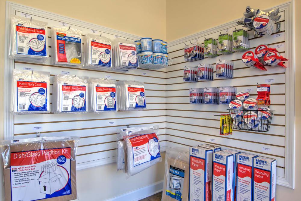 Packing supplies at Prime Storage in Aiken, South Carolina