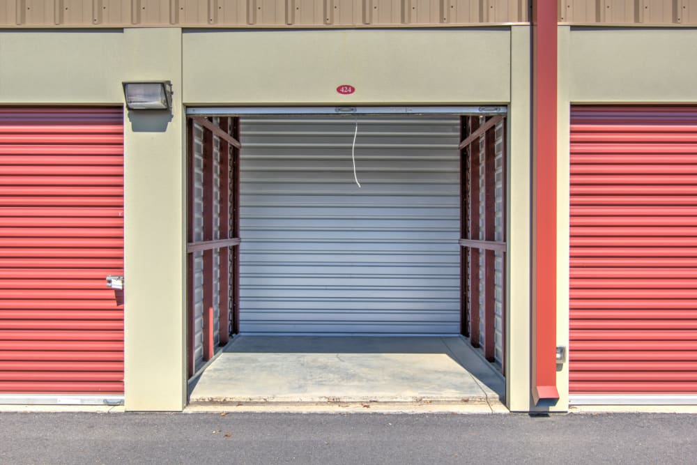 Interior of unit at Prime Storage in Aiken, South Carolina