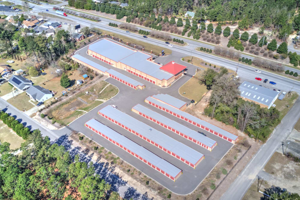 Aerial view of Prime Storage in Aiken, South Carolina