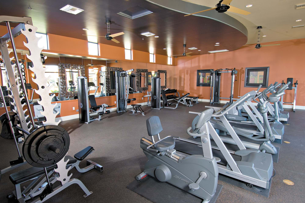 Modern fitness center at apartments in Phoenix, Arizona
