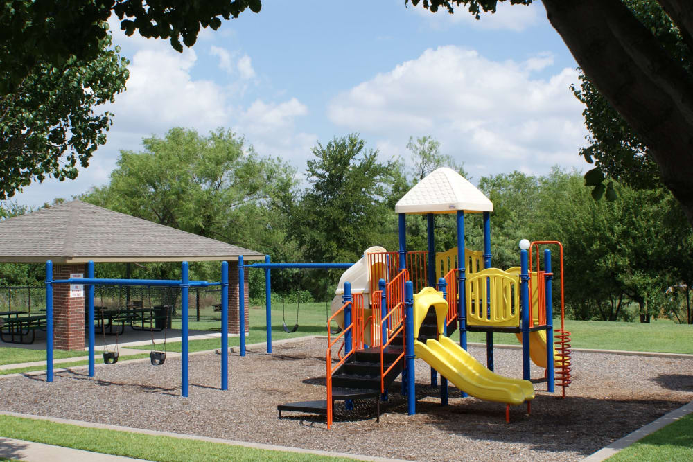 Spacious playground at Carrollton Park of North Dallas in Dallas, Texas